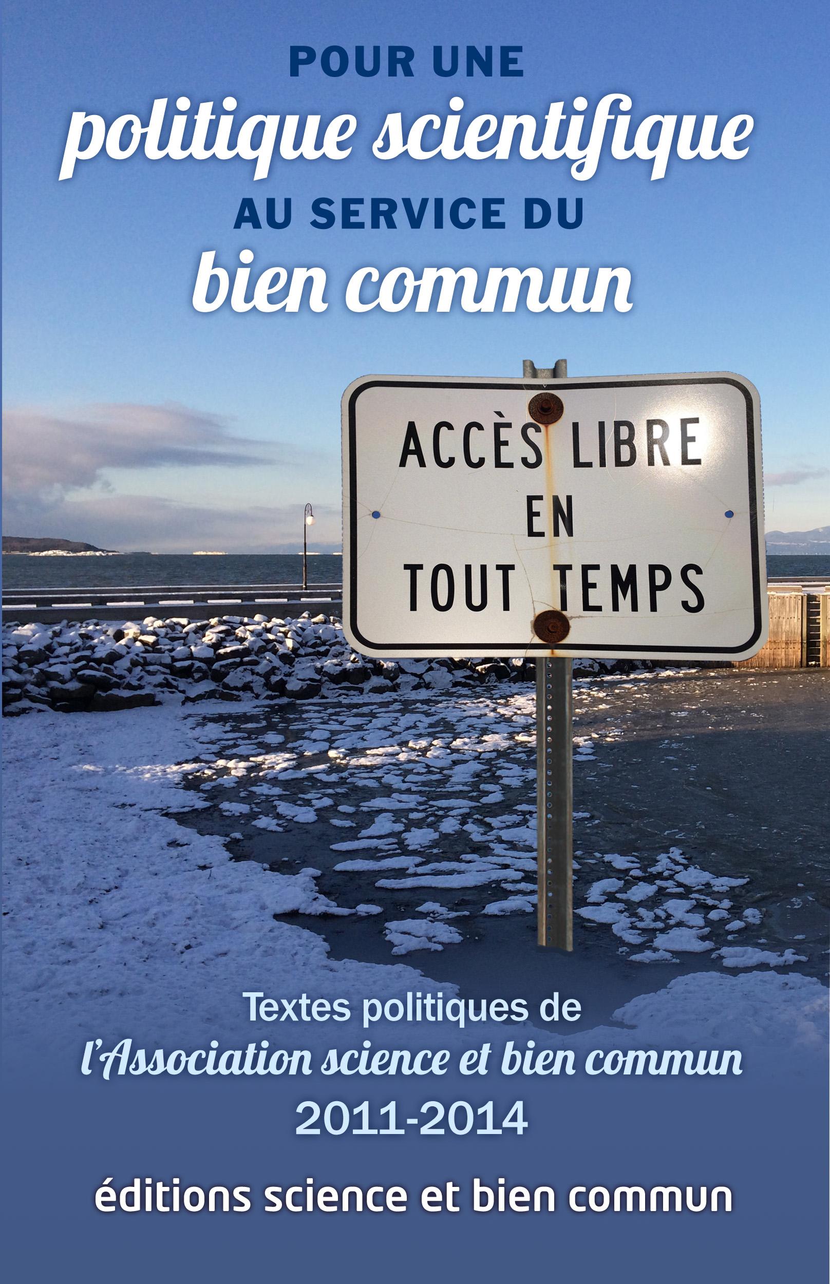 Cover image for Pour une politique scientifique au service du bien commun